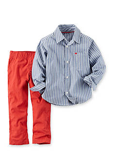 Carter's® 2-Piece Woven Striped Shirt and Pants Set