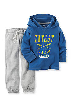 Carter's® 2-Piece Printed Hooded Pullover and Pant Set