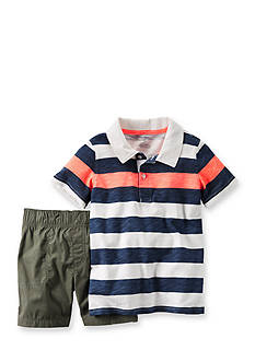 Carter's® 2-Piece Stripe Polo and Short Set