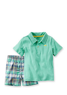 Carter's® 2-Piece Polo and Shorts Set