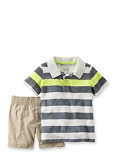 Carter's® 2-Piece Stripe Polo Shirt and Short Set