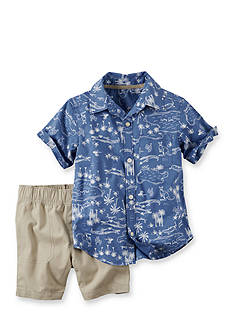 Carter's® 2-Piece Hawaiian Shirt & Shorts Set
