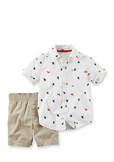 Carter's® 2-Piece Dog Print Shirt and Short Set
