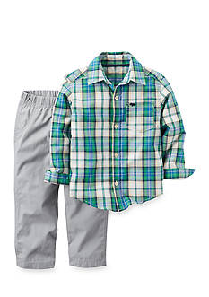 Carter's® 2-Piece Button-Front Shirt and Canvas Pant Set