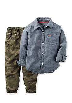 Carter's® 2-Piece Chambray Shirt and Jogger Set