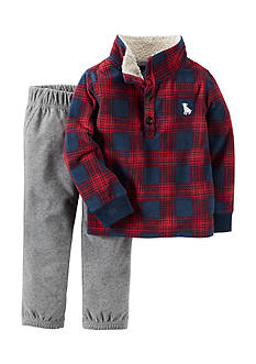 Carter's® Red Buffalo Plaid Pullover and Gray Pant Set