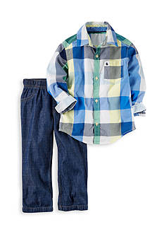 Carter's® 2-Piece Button-Up Shirt and Denim Pant Set