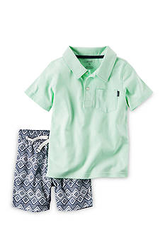 Carter's® 2-Piece Polo & Canvas Short Set
