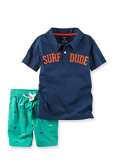 Carter's® 2-Piece Surf Dude Polo and Poplin Shorts Set