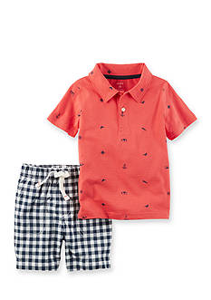 Carter's® 2-Piece Polo & Gingham Short Set