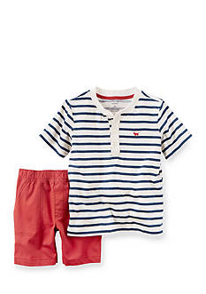 Carter's 2-Piece Henley Top and Canvas Shorts Set