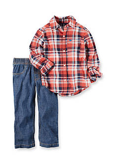 Carter's® 2-Piece Button-Up and Pants Set