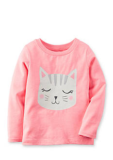 Carter's® Infant Long Sleeve Cat Tee