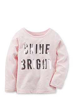 Carter's Infant Long Sleeve 'Shine Bright' Sequin Tee