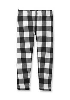 Carter's Checkered Fleece-Lined Leggings