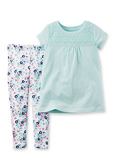 Carter's® 2-Piece Tunic and Flower Pant Set