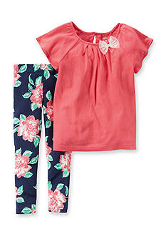 Carter's® 2-Piece Tunic Shirt and Floral Print Pants Set
