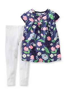 Carter's® 2-Piece Floral Tunic Shirt and Pants Set