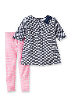 Carter's® 2-Piece Geo Tunic Shirt and Stripe Pants Set