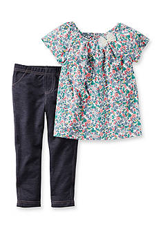 Carter's® 2-Piece Flower Shirt and Pant Set