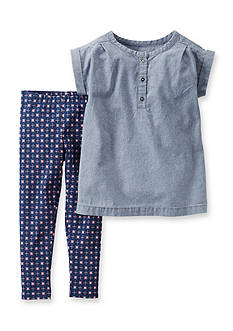 Carter's® 2-Piece Chambray Tunic Shirt and Geo Pants Set