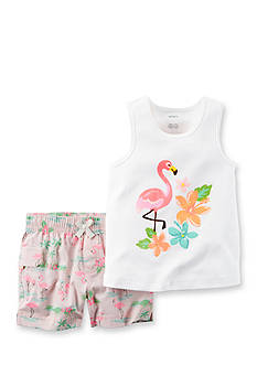 Carter's® 2-Piece Flamingo Tank & Short Set