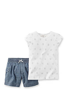 Carter's® 2-Piece Print Shirt and Short Set