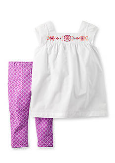 Carter's® 2-Piece Embroidered Top & Pants Set