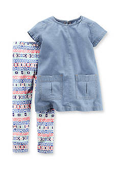 Carter's® 2-Piece Chambray Top & Legging Set Baby/Infant Girl