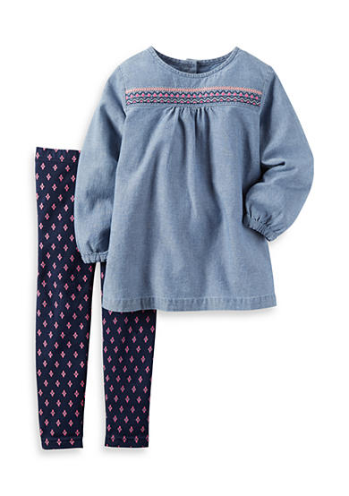 Carter's® 2-Piece Chambray Top And Legging Set