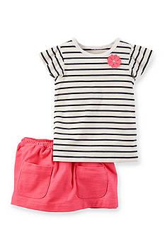 Carter's 2-Piece Stripe Top And Skirt Set