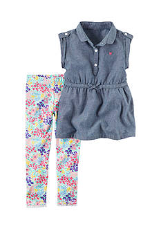 Carter's® 2-Piece Chambray Tunic and Leggings Set