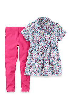 Carter's 2-Piece Pink Floral Legging Set