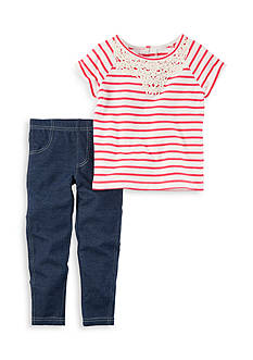 Carter's 2-Piece Striped Tee and Leggings Set