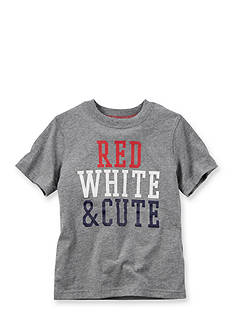 Carter's® 'Red White & Cute' Tee Toddler Boys