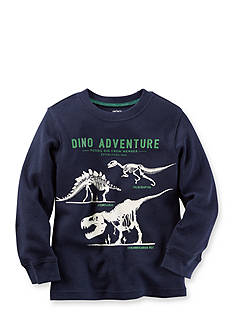 Carter's® Long-Sleeve Dinosaur Glow-In-The-Dark Graphic Tee Toddler Boys