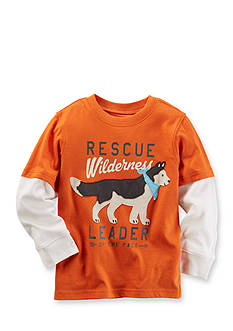 Carter's Long-Sleeve Layered-Look Graphic Tee Toddler Boys