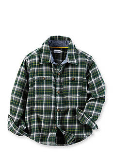 Carter's Toddler Plaid Twill Button-Front Shirt