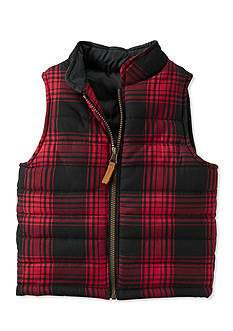 Carter's Plaid Flannel Puffer Vest Toddler Boys