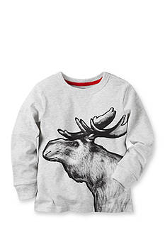 Carter's® Long Sleeve Moose Graphic Tee Toddler Boys