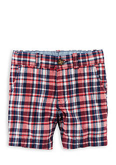Carter's Plaid Flat-Front Twill Shorts Toddler Boys