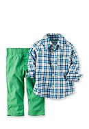 Carter's® 2-Piece Plaid Woven Shirt and Pant