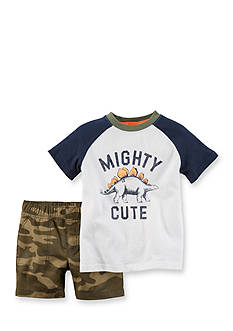 Carter's® 2-Piece Dino Camo Short Set Toddler Boys