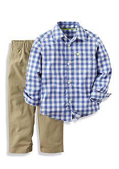 Carter's 2-Piece Checkered Shirt and Pant Set Toddler Boys