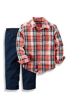 Carter's 2-Piece Plaid Shirt and Pant Set Toddler Boys