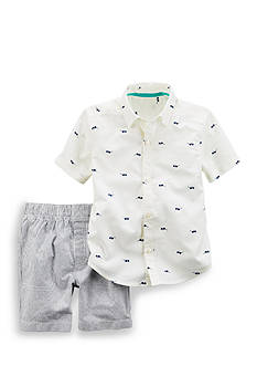 Carter's® 2-Piece Button-Front Woven Top & Short Set Toddler Boys