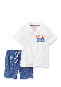 Carter's® 2-Piece Polo and Canvas Short Set Toddler Boys