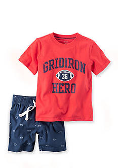Carter's® 2-Piece Graphic Tee & Canvas Short Set Toddler Boys