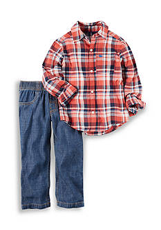 Carter's® 2-Piece Button Front Top & Denim Pant Set Toddler Boys