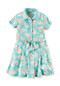 Carter's Puppy Print Dress Toddler Girls